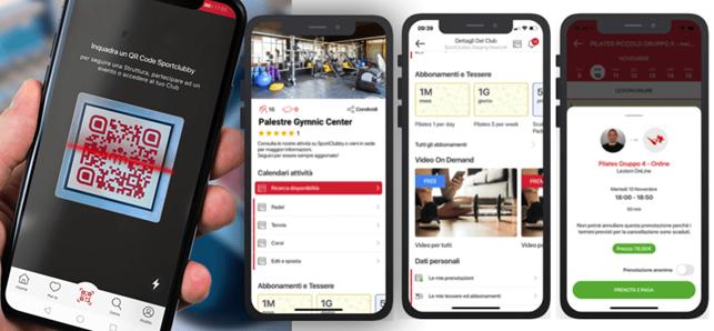 Sportclubby app, il dettaglio delle funzioni
